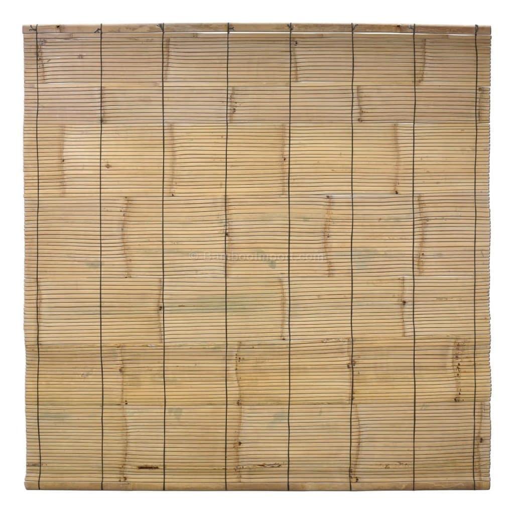 Bamboe rolgordijn 200 x 200 van bambooimport