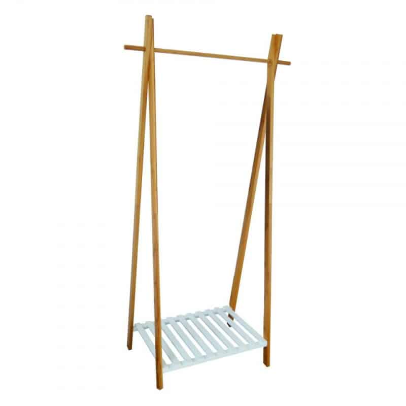 Bamboe kledingrek met legplank van de xenos