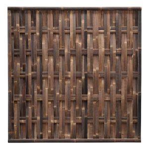 Zwarte bamboe tuinscherm gevlochten van bamboo import