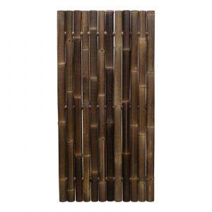 Zwart bamboe tuinscherm giant van bamboo import