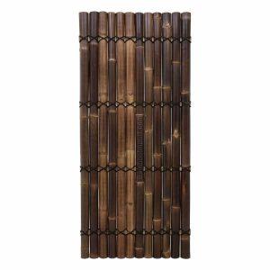 Halfrond bamboe scherm zwart van bamboo import