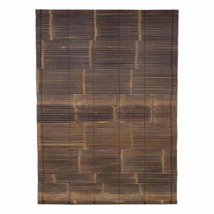 Zwart bamboe rolgordijn 150 x 200 van Bambooimport