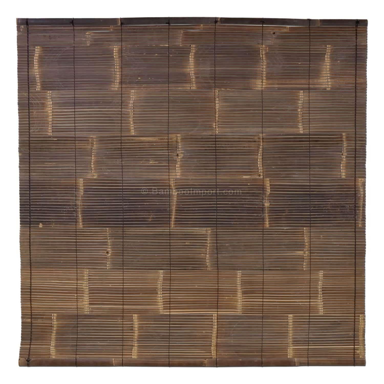 Zwart bamboe rolgordijn van bambooimport