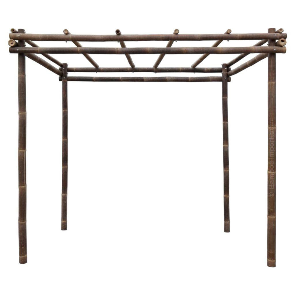 Zwarte bamboe pergola java van Bambooimport.com