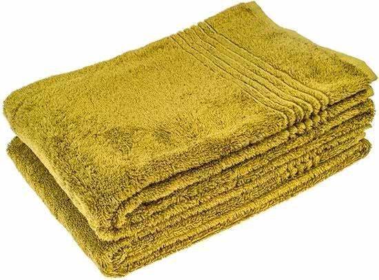 Groene bamboe handdoek