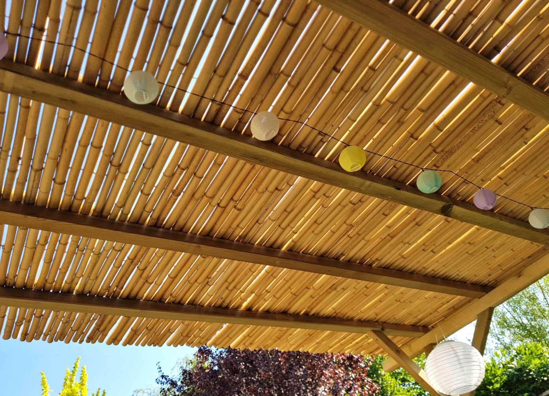 Bamboe matten op rol