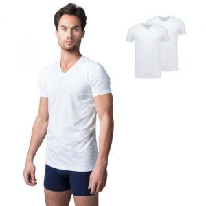 Bamboe t-shirt miller wit van Bamigo