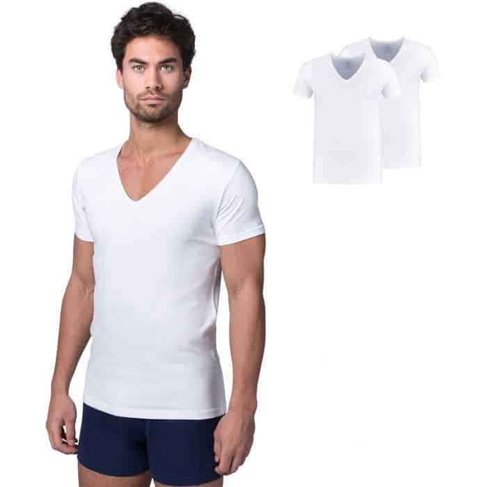 Bamboe t-shirt watson wit van Bamigo