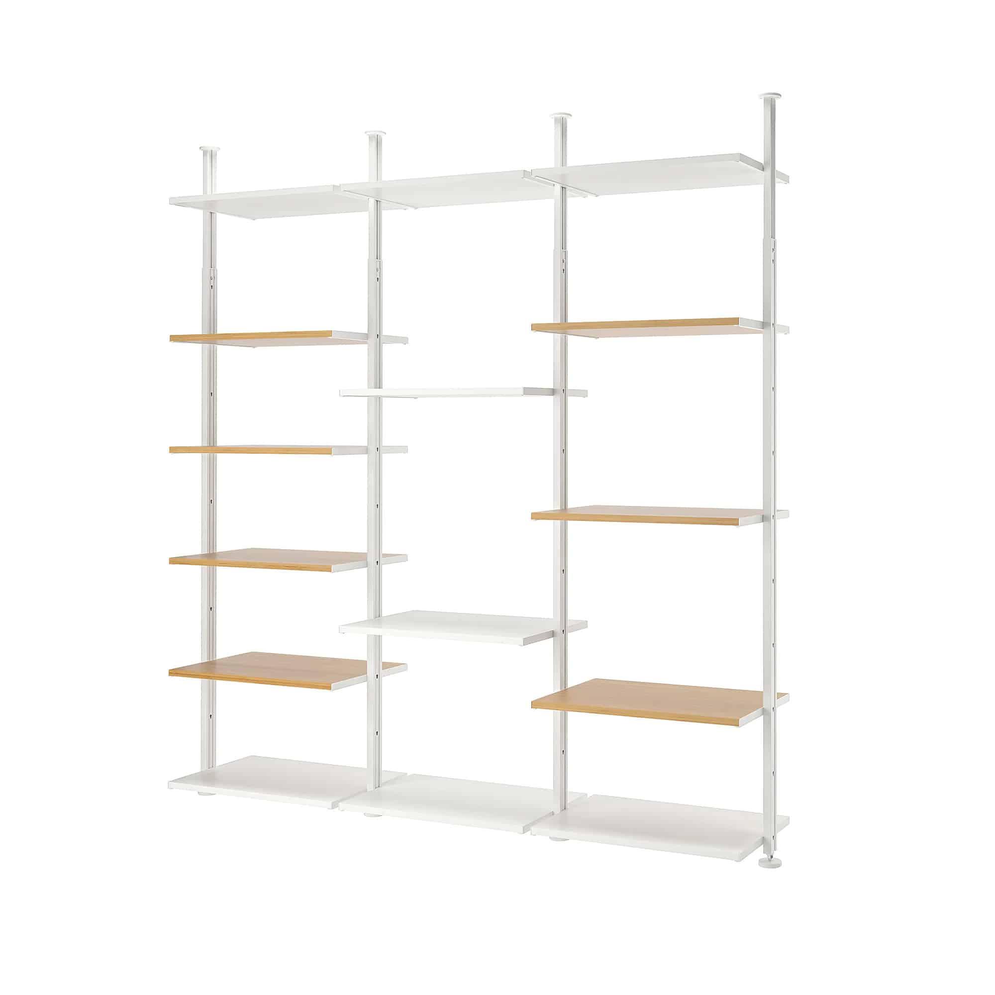 Elvarli 3 elementen bamboe opbergkast van Ikea