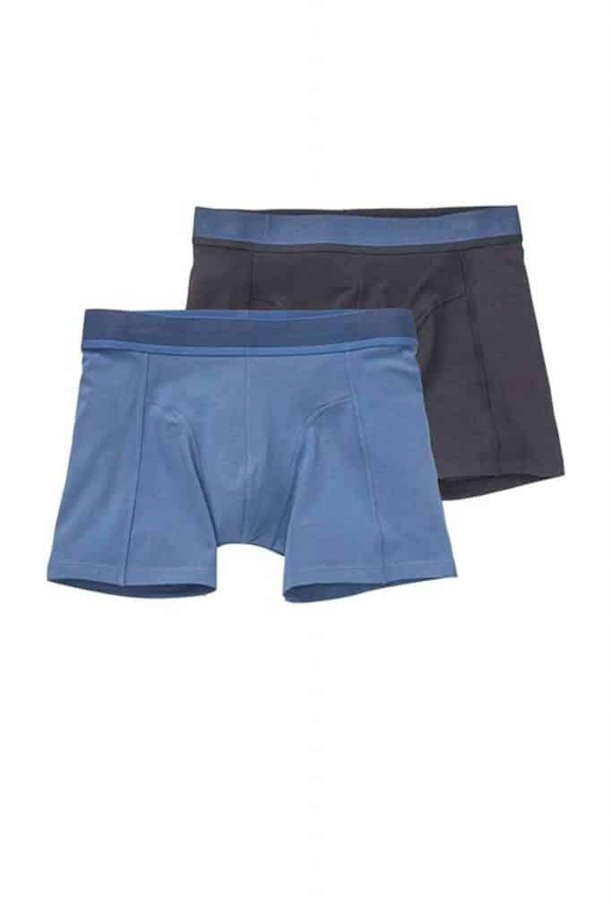 Set van twee donkerblauwe bamboe boxershorts van de hema