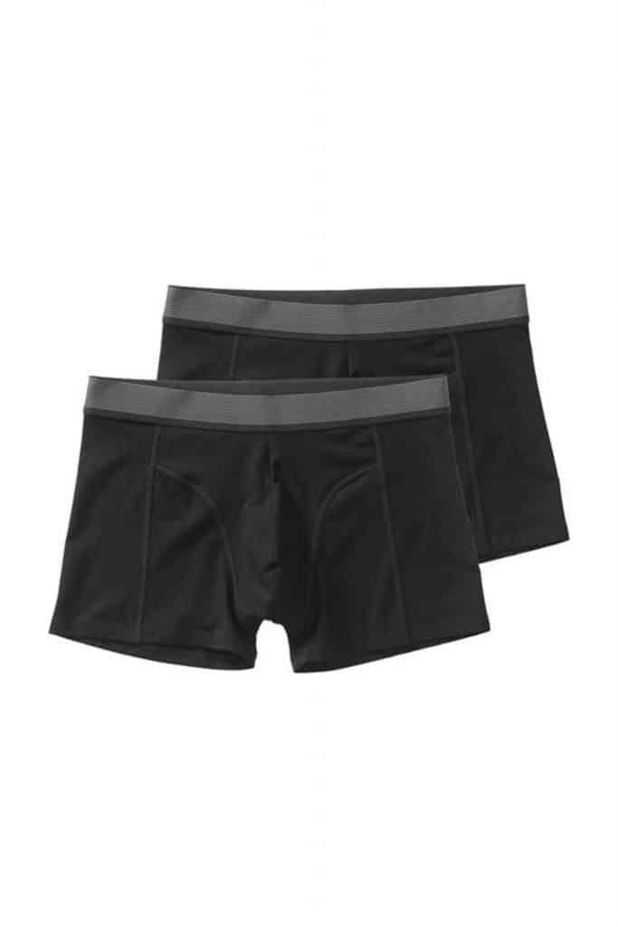 Set van twee zwarte bamboe boxershorts van de hema