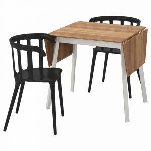 Ps 2012 bamboe tafel met 2 stoelen van Ikea