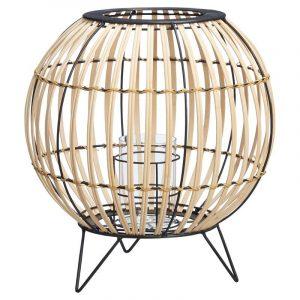 Bruin bamboe windlicht marbella van de Kwantum