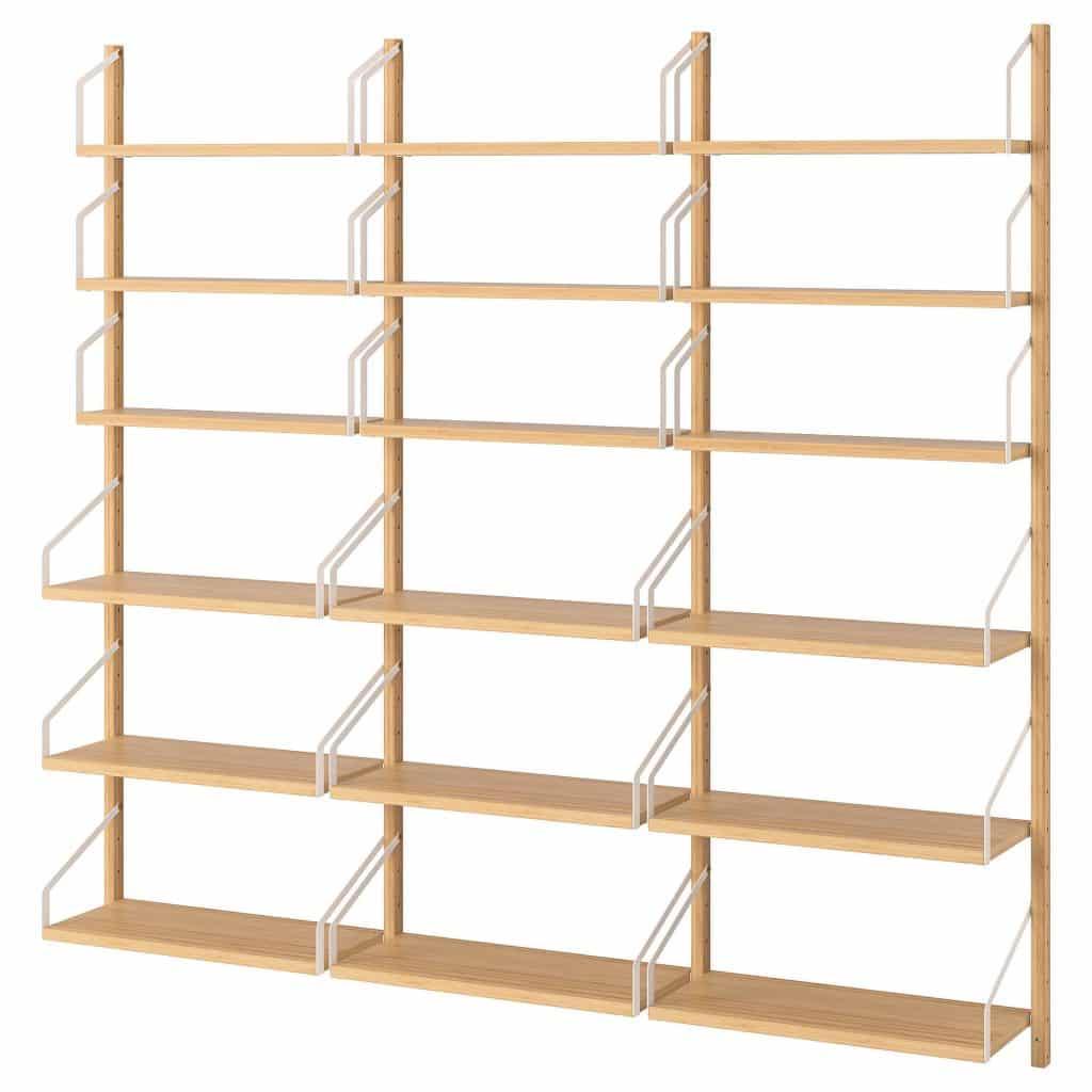 Bamboe open wandkast svalnas van Ikea