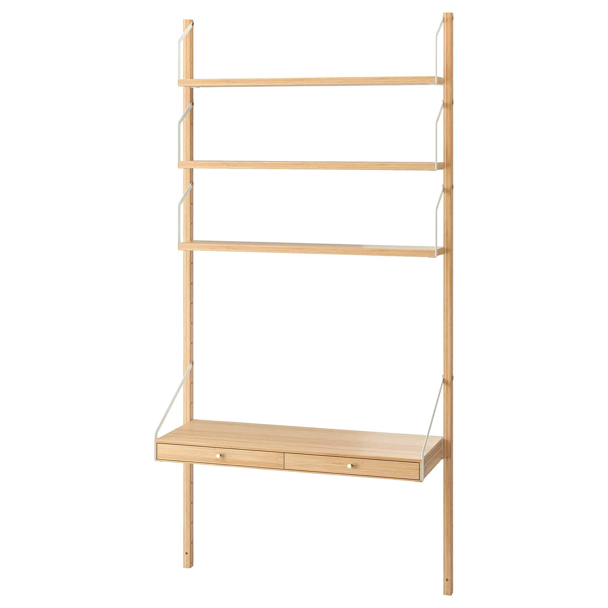Wand opbergkast combinatie kast bamboe van Ikea