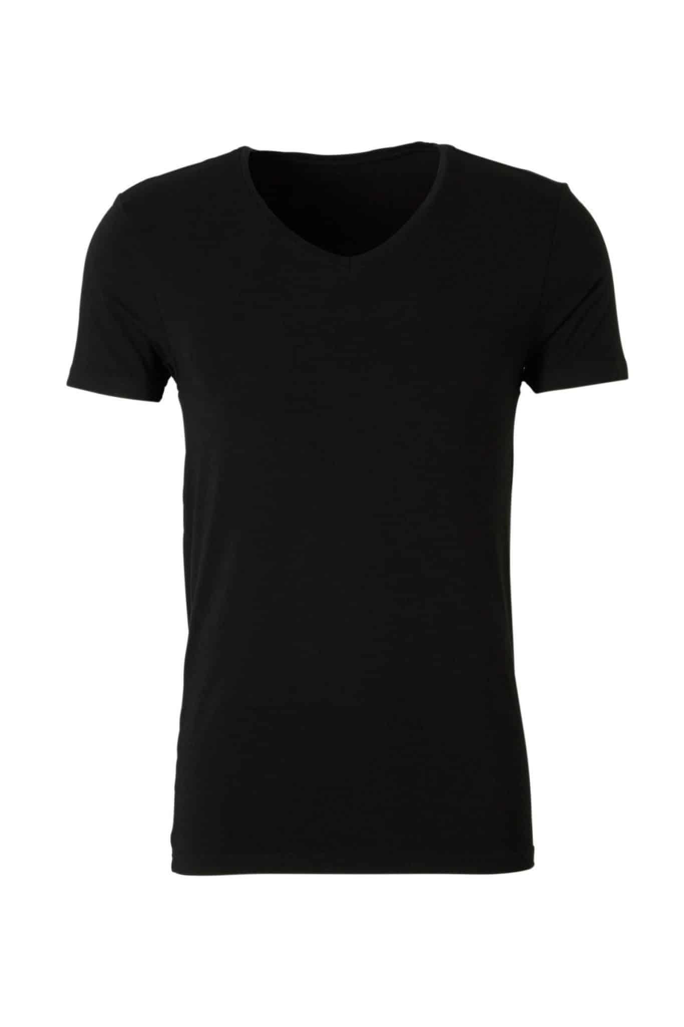 Zwart bamboe shirt van Ten Cate