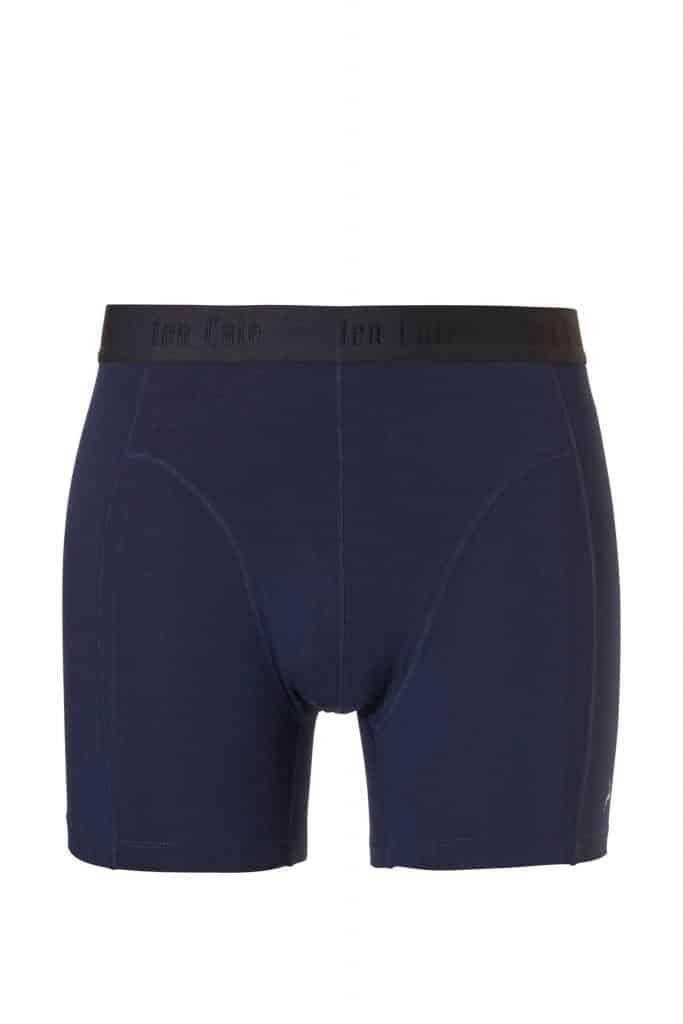 Blauw bamboe boxershort van ten cate