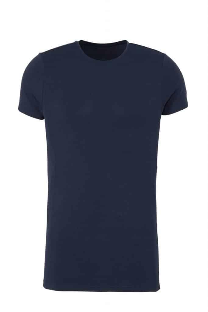 Blauw bamboe t-shirt van Ten Cate