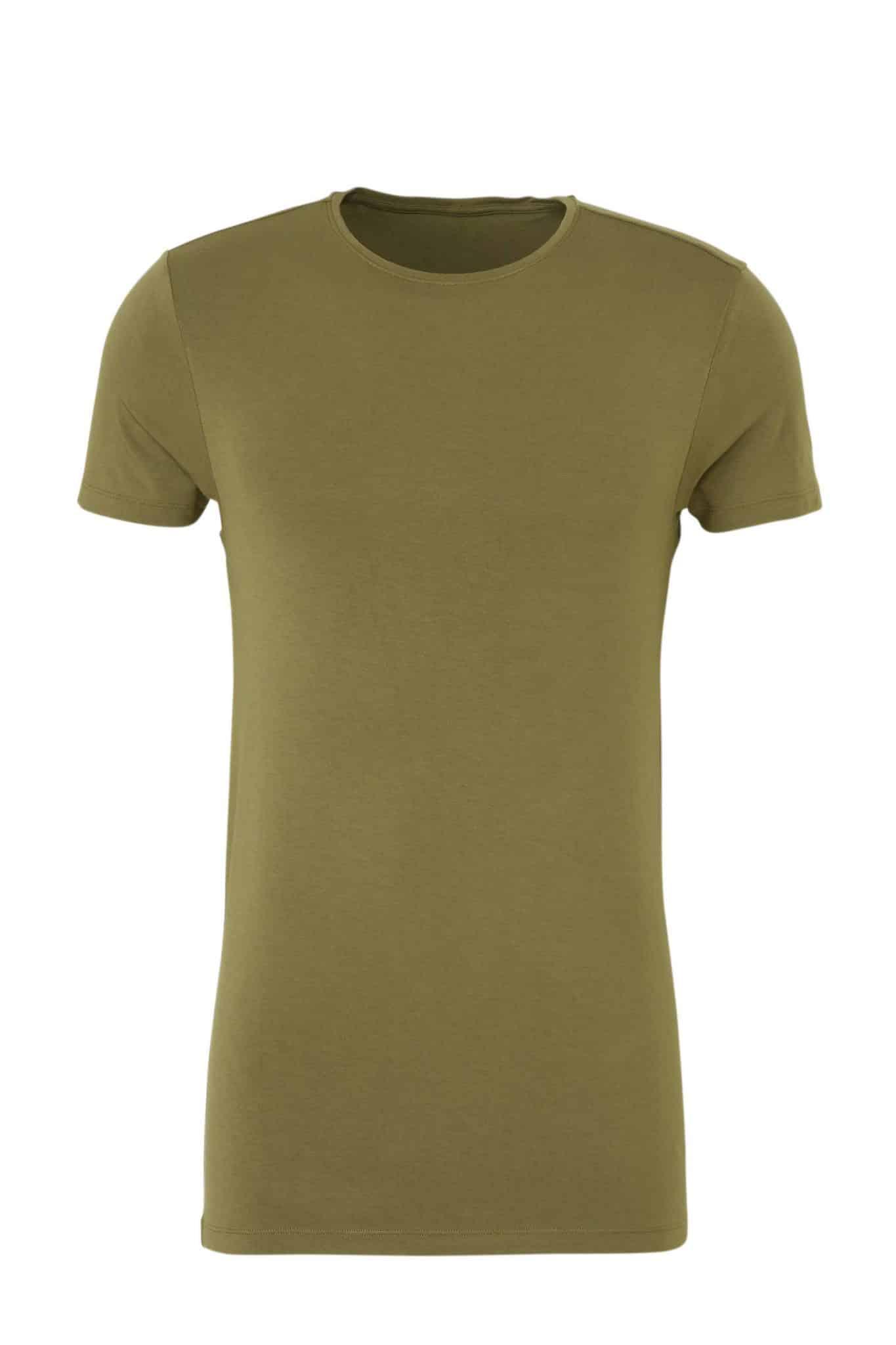Groen bamboe t-shirt van Ten Cate