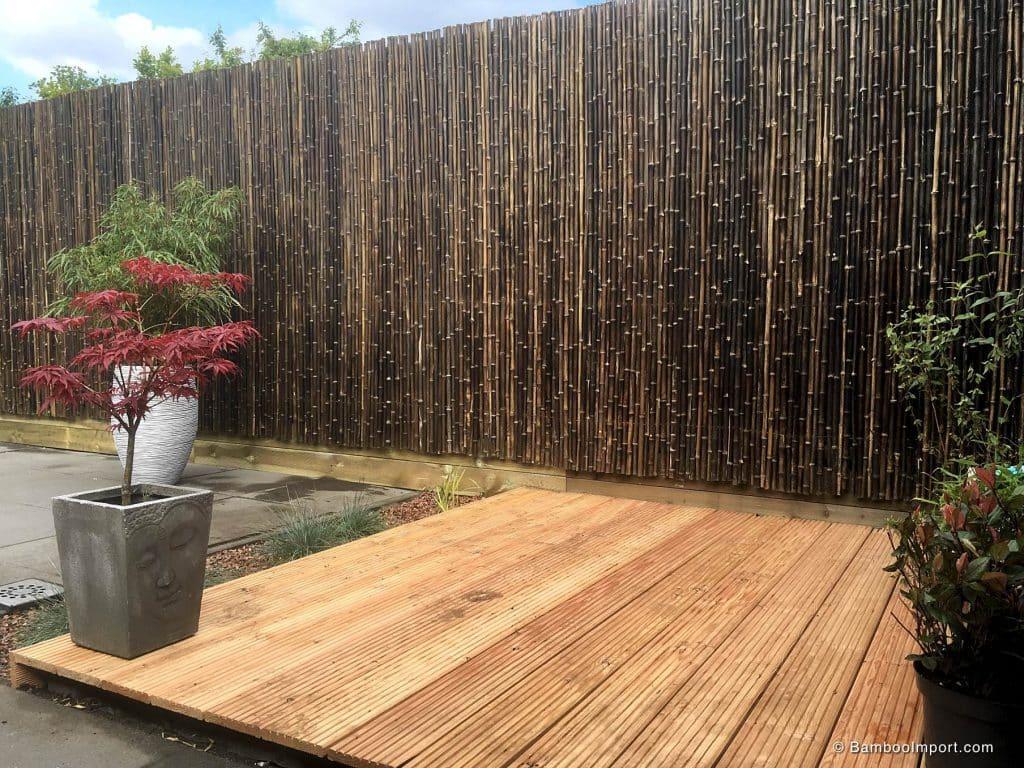 Zwarte bamboe matten