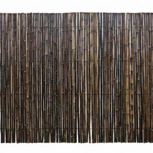 Zwarte bamboemat op rol 250x180 cm van bamboo import