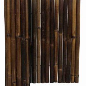 Zwarte bamboemat op rol deluxe 180x100 cm van bamboo import
