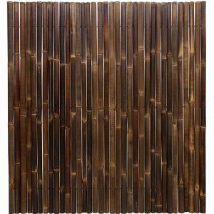 Zwarte bamboemat op rol deluxe 180x200 cm van bamboo import