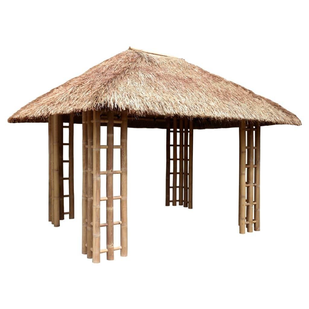 Bamboe gazebo 3x4 meter van bamboo import