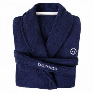 Bamboe badjas duke donkerblauw van bamigo