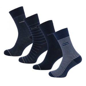 James sokken denimblauw gestreept van Bamigo