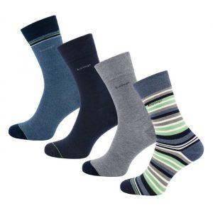 Bamboe sokken multistreep mintgroen van Bamigo