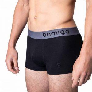 Bamboe boxershort mason slim fit zwart van bamigo