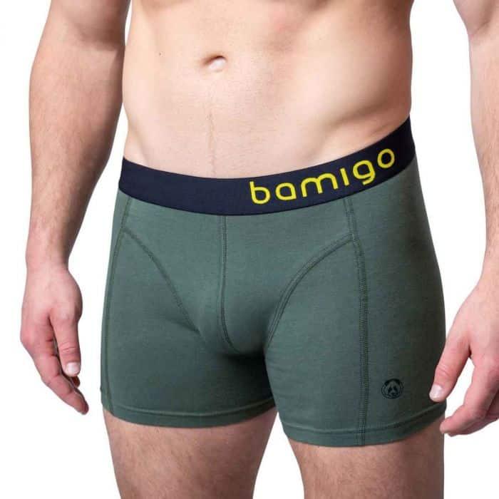 Bamboe boxershort paul slim fit olijfgroen van Bamigo