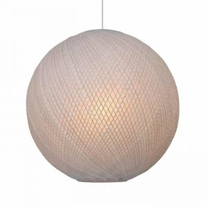 Hanglamp ball bamboe white naturel van hkliving