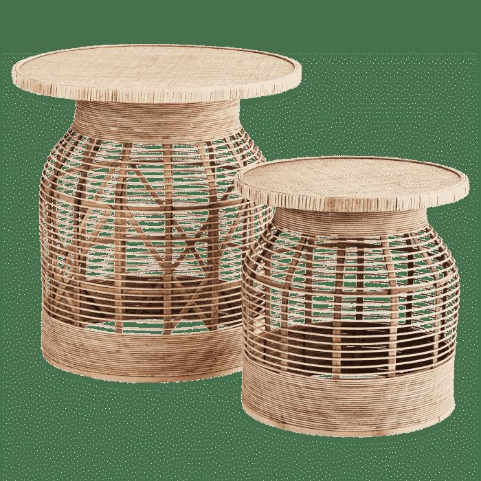 Bamboe bijzettafel set van 2 van Madam Stoltz