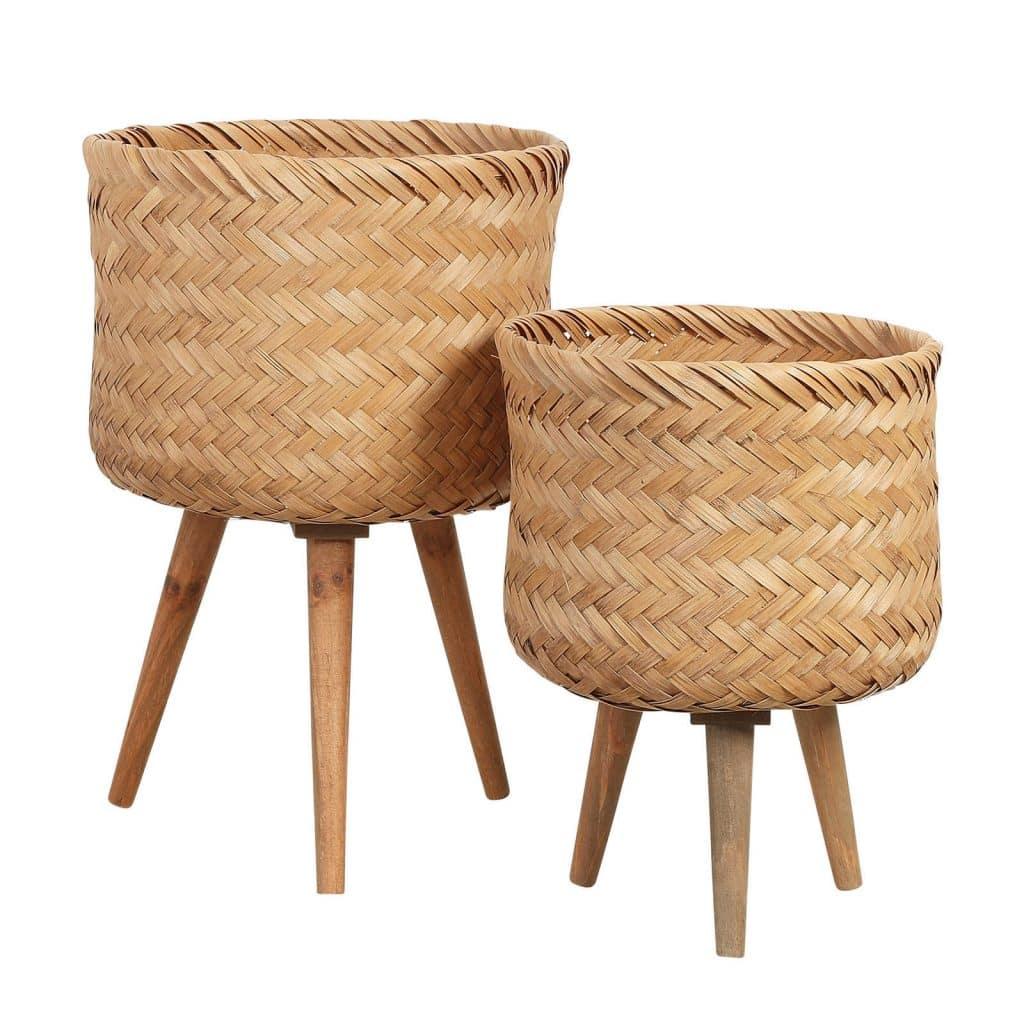 Bamboe bloempot van Mica Decorations