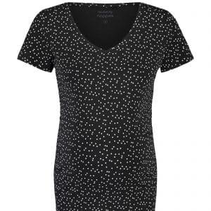 Zwart zwangerschaps t-shirt met stippen van noppies