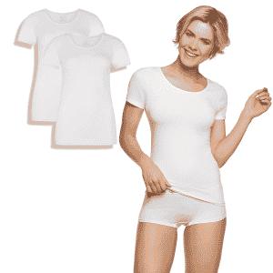 Bamboe t-shirt kate wit van bamboo basics