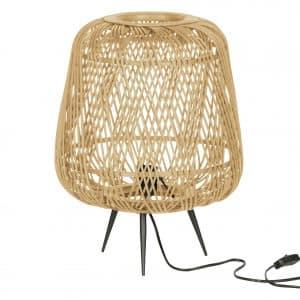 Tafellamp moza naturel bamboe