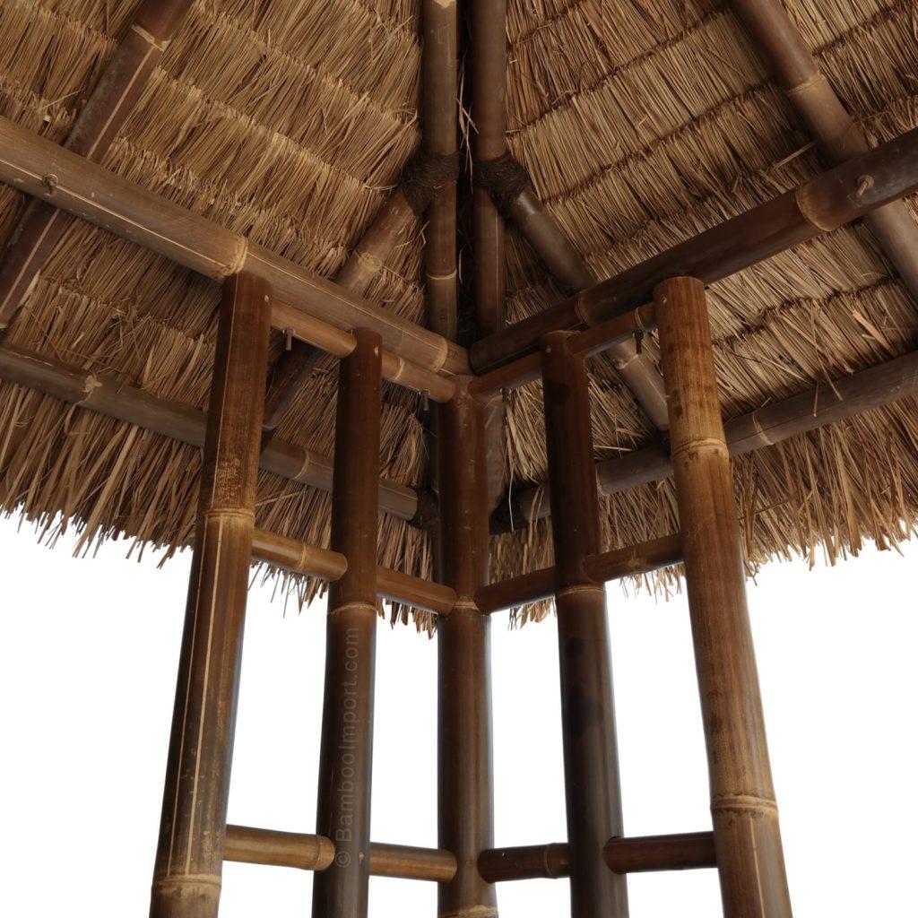 Zwarte bamboe gazebo van bamboo import