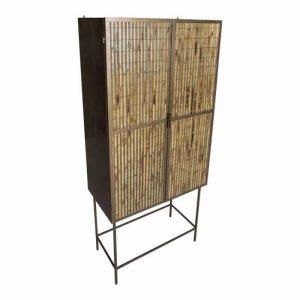 Bamboe kast metaal 2 deurs
