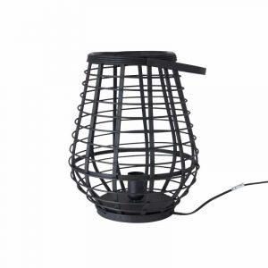 Zwarte bamboe tafellamp van de xenos