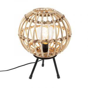 Bamboe tafellamp canna beige