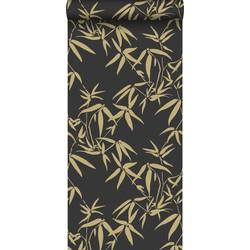 origin bamboe behang zwart en goud