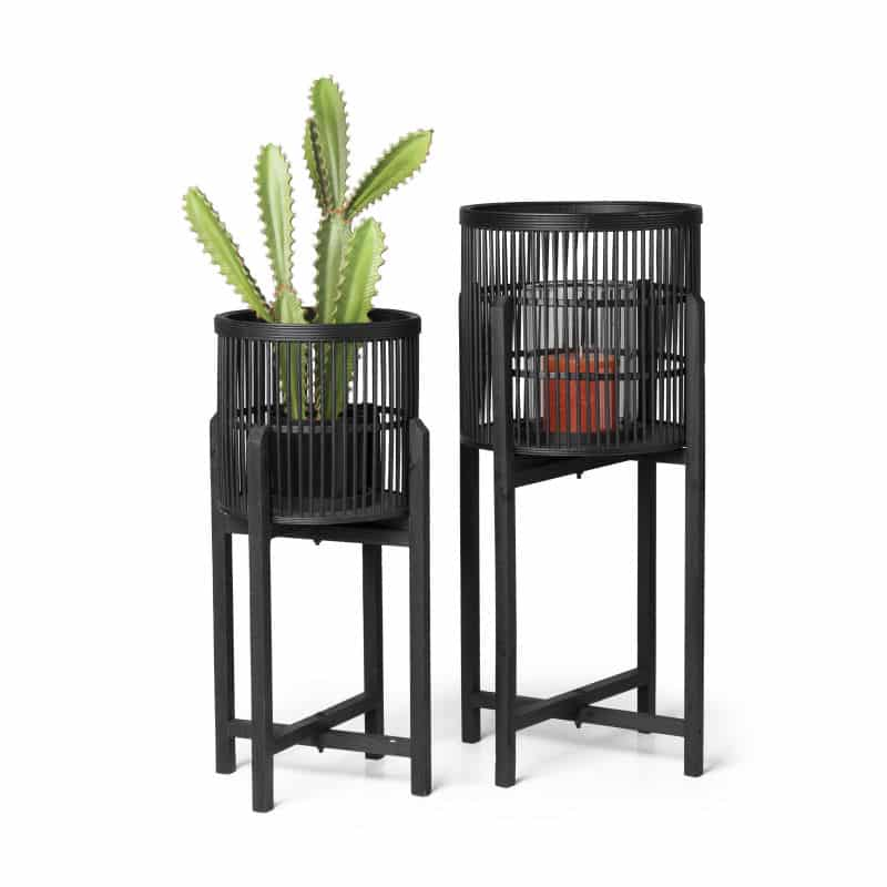 Zwarte bamboe plantenbak van de xenos