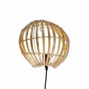 Bamboe wandlamp canna van qazqa