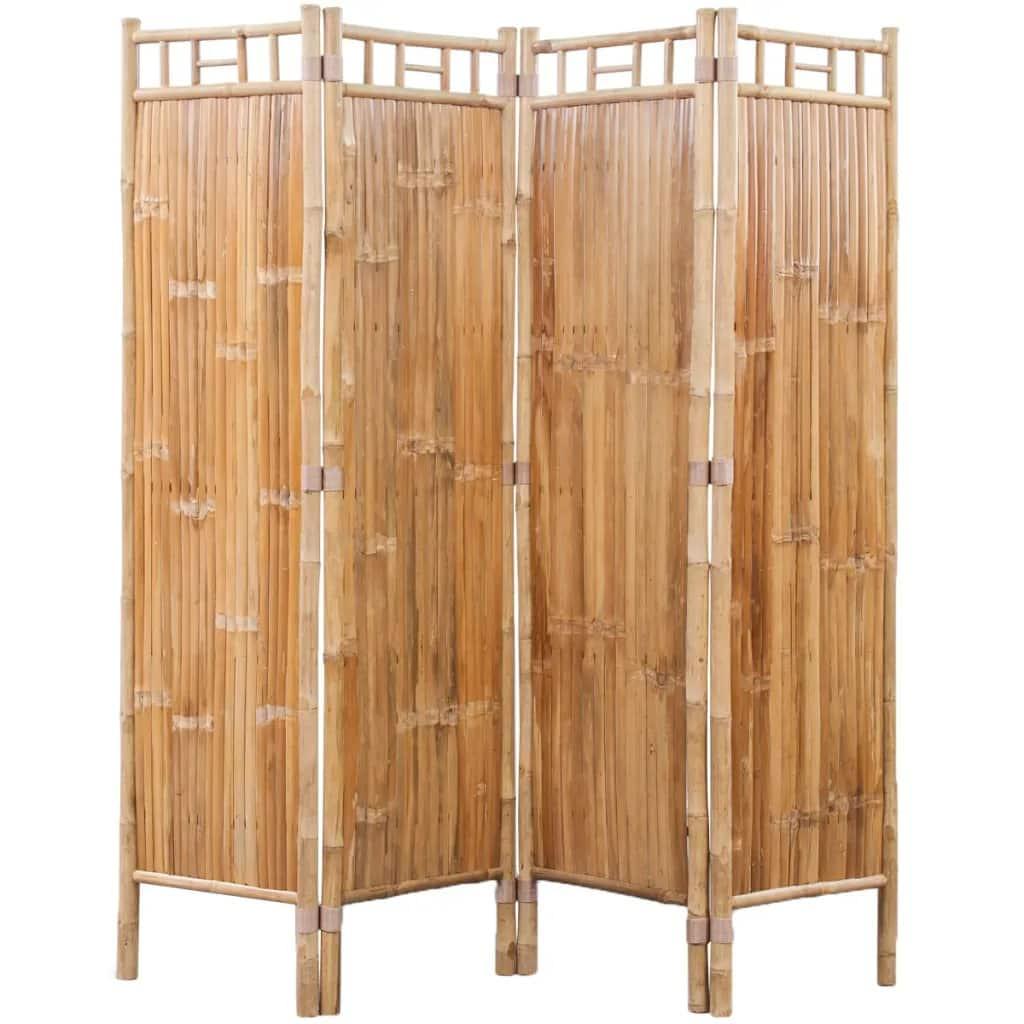 Bamboe kamerscherm 4 panelen van vidaxl