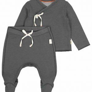 Newborn kinderset bamboe grijs