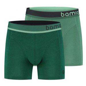 Bamboe boxershort paul slim fit groen 2-pack van bamigo