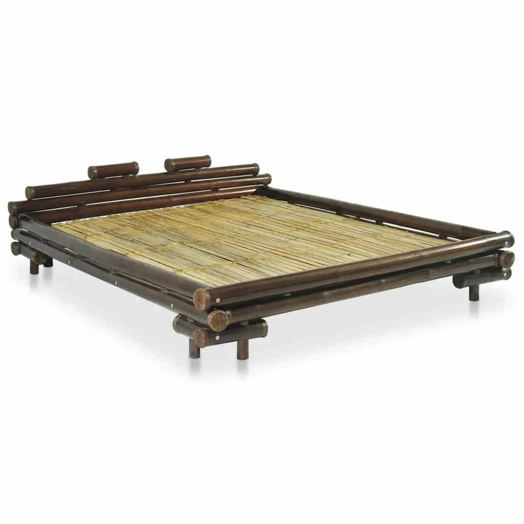Donkerbruin bamboe bedframe 180x200 cm van vidaxl